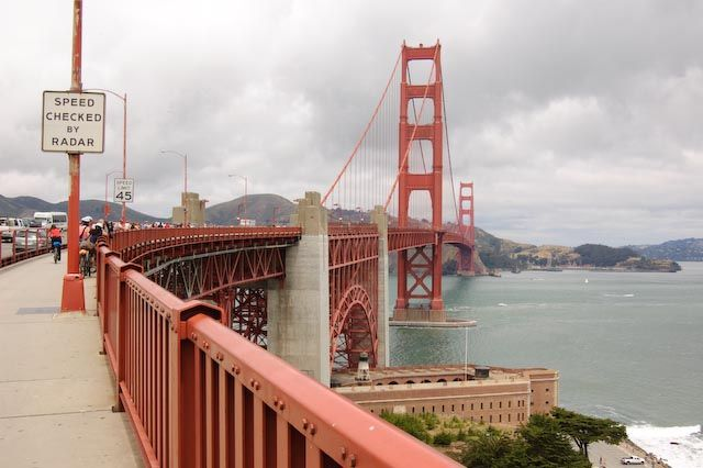 North American Travel Cycling The Golden Gate A Unique